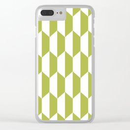 Classic Trapezoid Pattern 223 Olive Green Clear iPhone Case