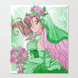 Makoto Wedding Dress Canvas Print