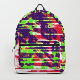 Aesthetic Urban Abstract Visual Art Party Rave Backpack