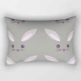 Pattern- Gray Bunny Rectangular Pillow