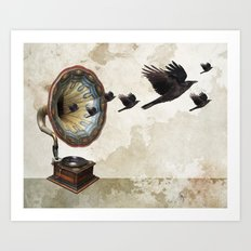 the sound of crows Art Print