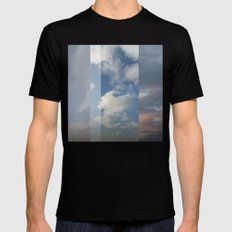 Northern Sky Fragments 3 Mens Fitted Tee MEDIUM Black