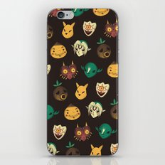 pattern of masks.  iPhone & iPod Skin