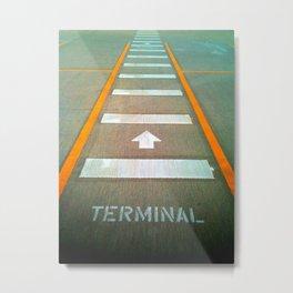 Terminal A Metal Print