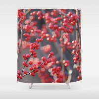 sparkles Shower Curtains featuring Christmas Sparkles by BACK to THE ROOTS
