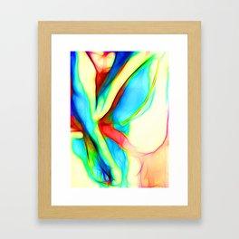 Womans`lap Framed Art Print