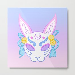 Usagi Mask (pastel) Metal Print