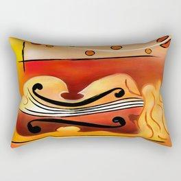 Vioselinna - violin backed beauty Rectangular Pillow