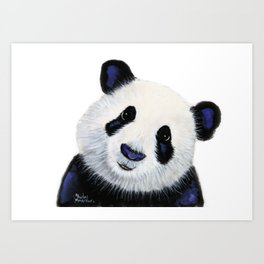 Panda Bear ' HuGSy ' by Shirley MacArthur Art Print