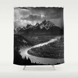 Ansel Adams - The Tetons and Snake River Shower Curtain