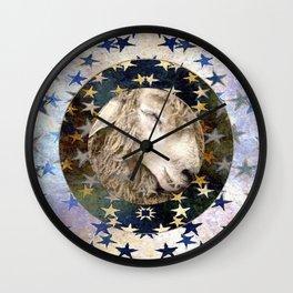 Sleepy Sheep II Wall Clock