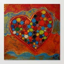 love for colors  Canvas Print