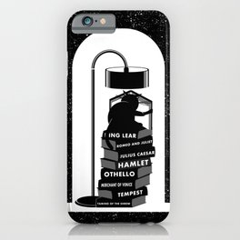 CAT READING SHAKESPEARE iPhone Case