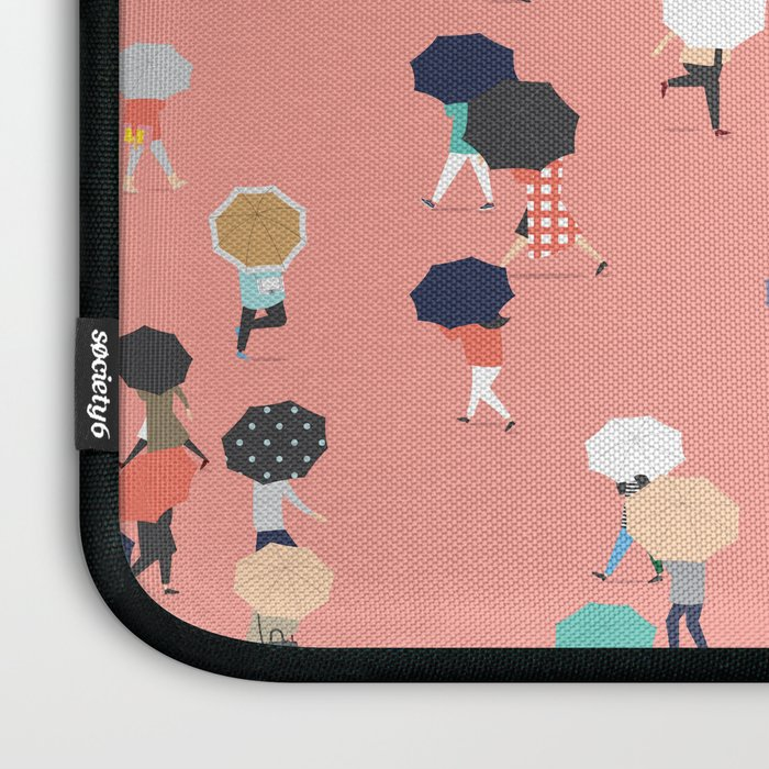 Crossing The Street On a Rainy Day Laptop Sleeve