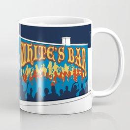 White's Bar- Navy Coffee Mug
