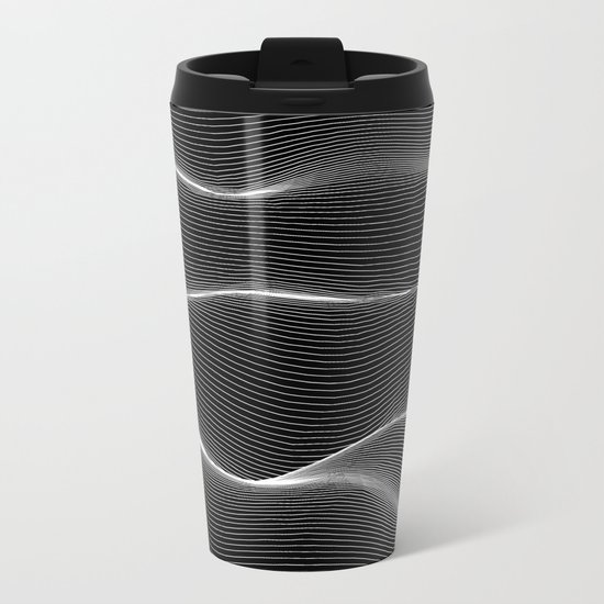 Lines Metal Travel Mug