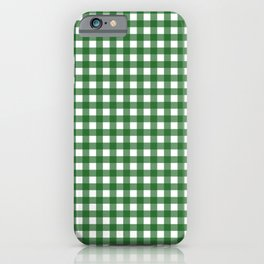 Vintage Green Gingham iPhone Case