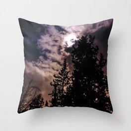 Sky & trees Throw Pillow