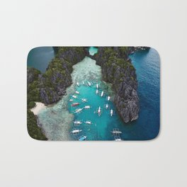Island hopping in the Philippines Bath Mat