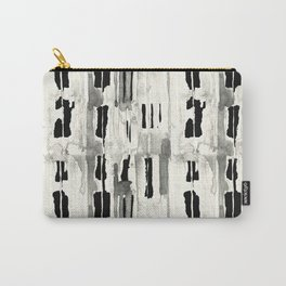 Minimal Black and Cream Abstract Design Carry-All Pouch