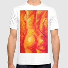 Abstract body MEDIUM White Mens Fitted Tee