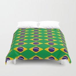flag of brazil 2-Brazil, flag, flag of brazil, brazilian, bresil, bresilien, Brasil, Rio, Sao Paulo Duvet Cover