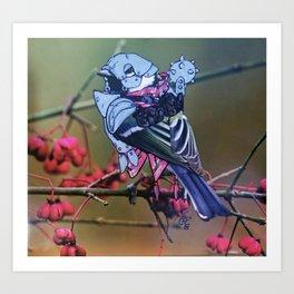 Birds In Armor 2 Art Print