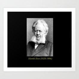 Schaarwachter  Portrait of Ibsen Art Print