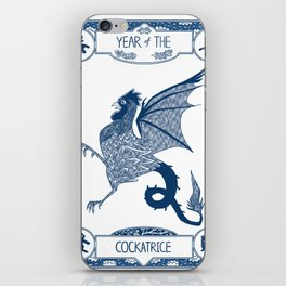Year of the Cockatrice (Porcelain) iPhone Skin