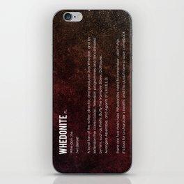 Whedonite iPhone Skin