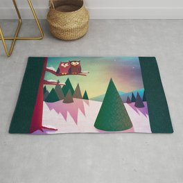 Twilight In The Woods Rug