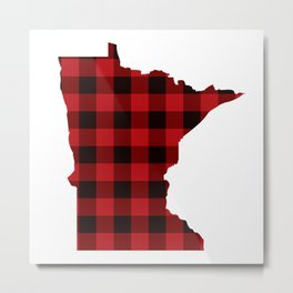 Minnesotans Love Flannel Metal Print