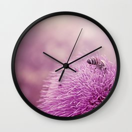 Beauty and the Bee Wall Clock