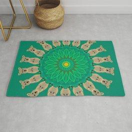 Happy Quokka Mandala Design Rug