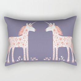 Unicorn with Flowers Rectangular Pillow