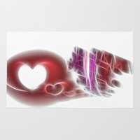 valentine Area & Throw Rugs featuring Valentine by Fine2art