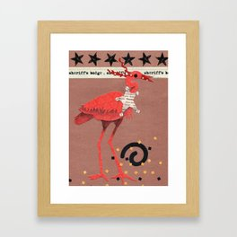 Birds Wearing Clothes - Sheriff's Badge Framed Art Print