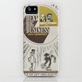 Vintage Poster - Beat Big Business, Vote Communist (1975) iPhone Case