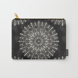 Vintage Mandala on black Carry-All Pouch
