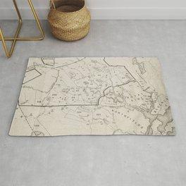 Vintage 1692 Map of Salem MA Village (1866) Rug