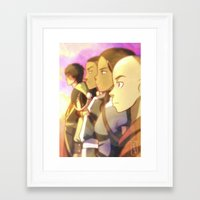avatar the last airbender Framed Art Prints featuring Avatar The Last Airbender by YAMsgarden