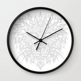 Heart of a Lion - Gray Wall Clock