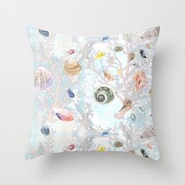Shells - Natural Pattern - Casart Sea Life Treasures Collection Throw Pillow
