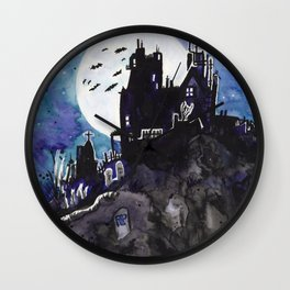 Spooky Mansion Wall Clock