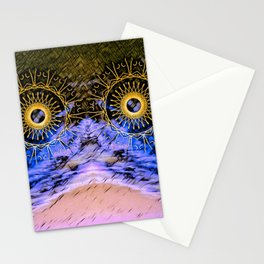 mandala eyes in the sky Stationery Cards