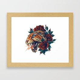 Ornate Leopard (Color Version) Framed Art Print