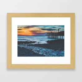 Point Arena Sunset Framed Art Print