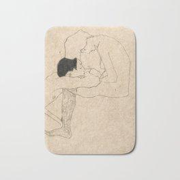 "Egon Schiele ""Lovers"" Bath Mat"