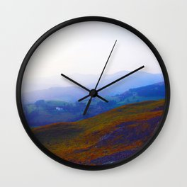 Land of Legends - Blue, Green and Purple Wall Clock