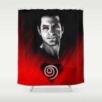 derek hale Shower Curtains featuring Peter Hale - BlackHeart Series  by xKxDx